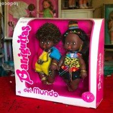 Muñecas Lesly y Barriguitas: PAREJA BARRIGUITAS NEGRITOS REEDICIÓN FAMOSA ÉPOCA NANCY. Lote 166032510