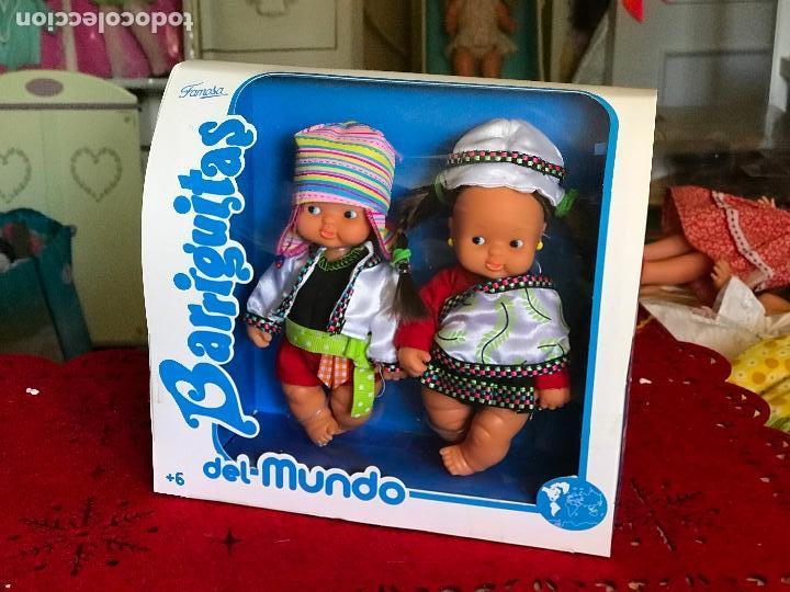 Muñecas Lesly y Barriguitas: PAREJA DE BARRIGUITAS POR EL MUNDO REEDICIÓN FAMOSA ÉPOCA NANCY EN CAJA - Foto 4 - 166036798