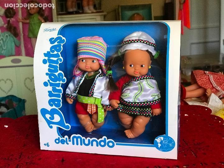 Muñecas Lesly y Barriguitas: PAREJA DE BARRIGUITAS POR EL MUNDO REEDICIÓN FAMOSA ÉPOCA NANCY EN CAJA - Foto 2 - 166036798