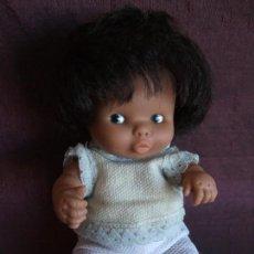 Bonecas Lesly e Barriguitas: ANTIGUA MUÑECA BARRIGUITAS FAMOSA , BESITOS NEGRA. Lote 168199252