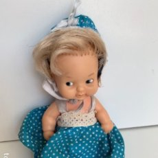 Muñecas Lesly y Barriguitas: ANTIGUA BARRIGUITAS RUBIA CON SU VESTIDO AZUL CON SU ROPA ORIGINAL - FAMOSA BARRIGUITA . Lote 175941638