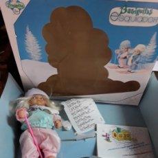 Muñecas Lesly y Barriguitas: BARRIGUITAS ESQUIADOR, CHICA, EN CAJA DE JUGUETERÍA.. Lote 180136735