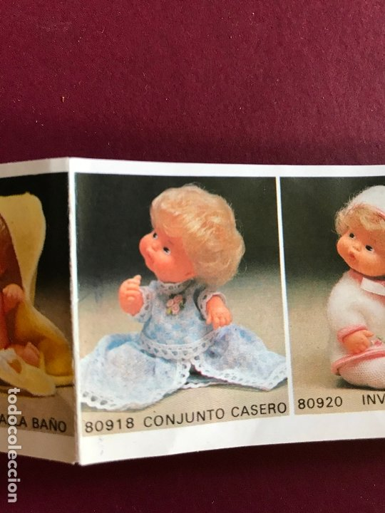 Muñecas Lesly y Barriguitas: CONJUNTO CASERO ROSA DE BARRIGUITAS AÑOS 70 ÉPOCA NANCY - Foto 3 - 180278796