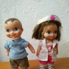 Muñecas Lesly y Barriguitas: PAREJA BARRIGUITAS FAMOSA ENFERMERA Y PACIENTE.. Lote 182085611