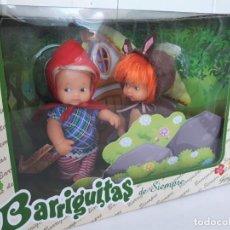 Muñecas Lesly y Barriguitas: BARRIGUITAS DE FAMOSA CAPERUCITA Y LOBO NUEVAS EN CAJA. Lote 183547581