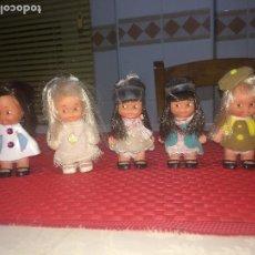 Muñecas Lesly y Barriguitas: MUÑECAS TIN TAN - FAMOSA - AÑOS 70 - LOTE DE 5 TIN - TAN - ONIL ( ALICANTE ). Lote 184649607