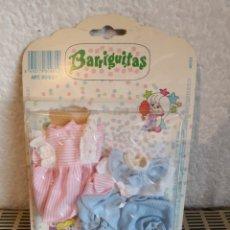 Muñecas Lesly y Barriguitas: DOS VESTIDOS BARRIGUITAS FAMOSA. Lote 184709783