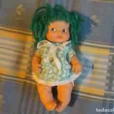 Muñecas Lesly y Barriguitas: BARRIGUITAS PELO LANA VERDE. Lote 186434445