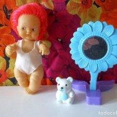 Muñecas Lesly y Barriguitas: BARRIGUITAS PELO ROSA-SERIE CAMBIA DE COLOR-AÑOS 80. Lote 194094721