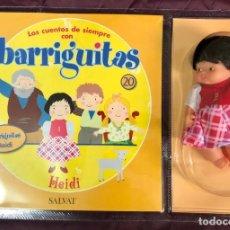 Muñecas Lesly y Barriguitas: BARRIGUITAS FAMOSA CUENTOS COLECCION SALVAT 2003 - FASCICULO 20 + HEIDI. Lote 194303792