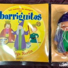 Muñecas Lesly y Barriguitas: BARRIGUITAS FAMOSA CUENTOS COLECCION SALVAT 2003 - FASCICULO 21 + EL MAGO MERLIN. Lote 194303866