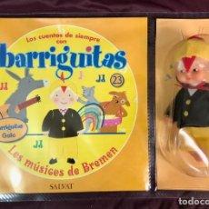 Muñecas Lesly y Barriguitas: BARRIGUITAS FAMOSA CUENTOS COLECCION SALVAT 2003 - FASCICULO 23 + LOS MUSICOS DE BREMEN. Lote 194304040
