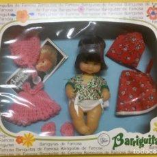 Muñecas Lesly y Barriguitas: BARRIGUITAS. CONJUNTO DE BARRIGUITAS CHINO CON 2 VESTIDOS. AÑOS 80.. Lote 196130527