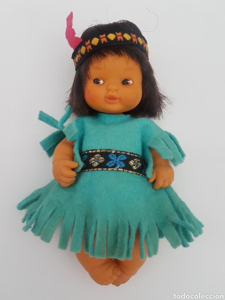 Muñecas Lesly y Barriguitas: Barriguitas indio + vestido indu. Famosa. Años 80 - Foto 10 - 196140641