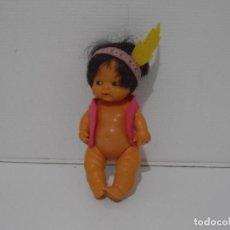 Muñecas Lesly y Barriguitas: MUÑECA BARRIGUITAS, INDIO CHALECO Y PLUMA, FAMOSA ORIGINAL AÑOS 80. Lote 212012648