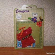 Muñecas Lesly y Barriguitas: BLISTER ROPA 80928 CHEYENE INDIA ROJA BARRIGUITAS Y SUS CONJUNTOS FAMOSA. Lote 215560942