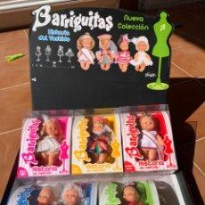 Muñecas Lesly y Barriguitas: BARRIGUITAS COLECCIÓN COMPLETA HISTORIA DEL VESTIDO. Lote 216594672