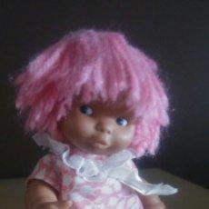 Muñecas Lesly y Barriguitas: BARRIGUITAS NEGRITA PELO DE LANA ROSA. Lote 218207416