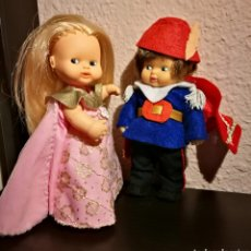 Muñecas Lesly y Barriguitas: BARRIGUITA CENICIENTA Y PRINCIPE MUÑECA DE FAMOSA. Lote 222267907