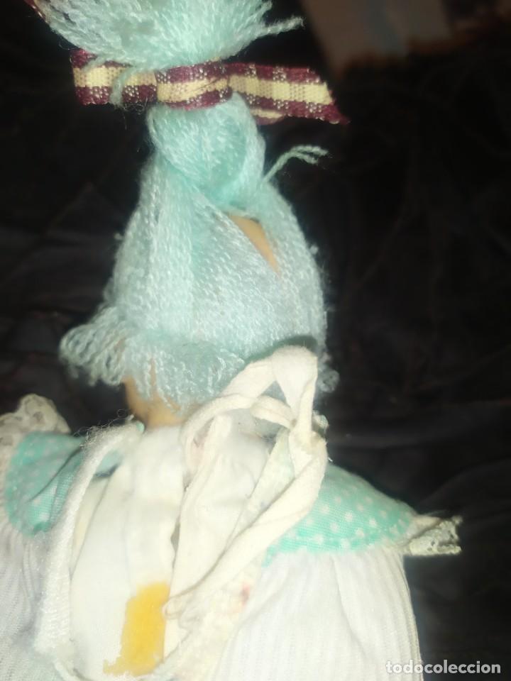 Muñecas Lesly y Barriguitas: MUÑECA BARRIGUITAS DE TRAPO PELO AZUL DE LANA FAMOSA MECANISMO PILAS - Foto 10 - 223044043