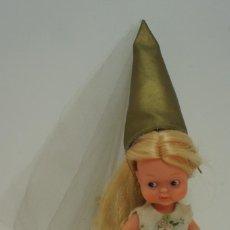Bonecas Lesly e Barriguitas: BARRIGUITAS MINA DE FAMOSA. TIENE LA GOMA DEL GORRO ROTA,LE FALTA LAVADO AL VESTIDO.. Lote 228106050
