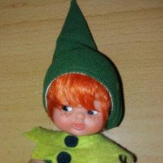 Bambole Lesly e Barriguitas: BARRIGUITAS DE FAMOSA DUENDE ENANITO DEL BOSQUE PELIRROJO COMPLETO AÑOS 80. Lote 235841595