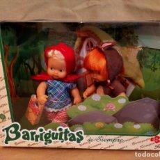 Bonecas Lesly e Barriguitas: BARRIGUITAS DE SIEMPRE-CAPERUCITA Y EL LOBO-NUEVAS EN SU ENVASE-REEDICIÓN. Lote 241870200