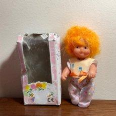 Bonecas Lesly e Barriguitas: MUÑECA BARRIGUITAS DE FAMOSA CARDITO COLOR NARANJA EN CAJA. Lote 248007505