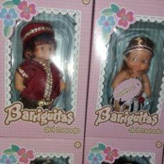 Muñecas Lesly y Barriguitas: LOTE 4 MUÑECA BARRIGUITAS DE FAMOSA COLECCION REEDICION MUNDO CAJA ROSA. Lote 261533450