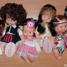 Muñecas Lesly y Barriguitas: LOTE 6 BARRIGUITAS DE FAMOSA VERSION NIÑAS VIAJANDO POR EL MUNDO EDICION LIMITADA CAJA ROSA. Lote 267360689