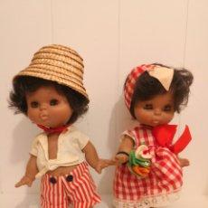 Muñecas Lesly y Barriguitas: 2 MUÑECAS BARRIGUITAS DE COLOR. Lote 278323498