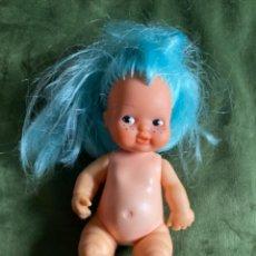Bambole Lesly e Barriguitas: ANTIGUA BARRIGUITAS MUÑECA FAMOSA SÍLFIDE DEL BOSQUE PELO AZUL. Lote 287245533