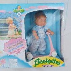 Muñecas Lesly y Barriguitas: BARRIGUITAS RETOÑO - CON SU PATINETE - EN CAJA - SIN JUGAR - FAMOSA - ONIL ( ALICANTE ) - AÑO 1989. Lote 287371383