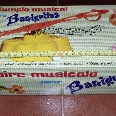 Muñecas Lesly y Barriguitas: COLUMPIO MUSICAL BARRIGUITAS AÑOS 70-PROCEDE DE ALMACÉN-SIN USO PREVIO - VER VÍDEO. Lote 292546468