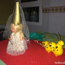 Muñecas Lesly y Barriguitas: BARRIGUITAS HADA Y CARROZA DEL BOSQUE - FAMOSA - ONIL ( ALICANTE ) - AÑO 1982. Lote 293821628
