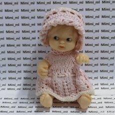 Muñecas Lesly y Barriguitas: ANTIGUA MUÑECA BARRIGUITAS VESTIDO GORRO BRAGUITAS. Lote 293953988