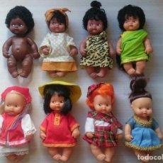 Muñecas Lesly y Barriguitas: LOTE DE 8 MUÑECAS BARRIGUITAS ORIGINALES PAÍSES DEL MUNDO FAMOSA SALVAT. Lote 294483078