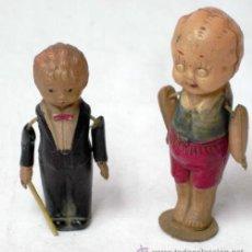 Muñecas Celuloide: 2 MUÑEQUITOS DE CELULOIDE JAPONESES AÑOS 20 8 CM Y 6 CM ALTO. Lote 8702005