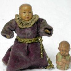 Muñecas Celuloide: 2 MUÑEQUITOS DE CELULOIDE JAPONESES JAPÓN AÑOS 20 8 CM Y 3 CM ALTO. Lote 8702016