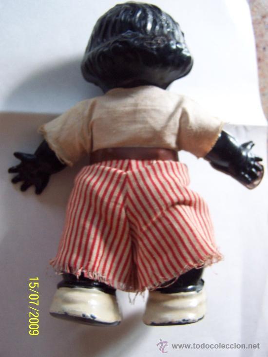 Muñecas Celuloide: PEQUEÑO MUÑECO( 16 CM.) CON BOTELLA DE CARTÓN -( RON) PLASTICO DURO, POSIBLEMENTE CELULOIDE - Foto 5 - 26734802