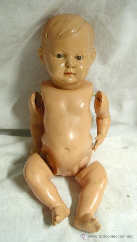 Muñecas Celuloide: Muñeca celuloide, marca de la Schildkröt-Puppen Tortuga nº 26, ojos cristal. Med. 28 cm alt. - Foto 3 - 26991002