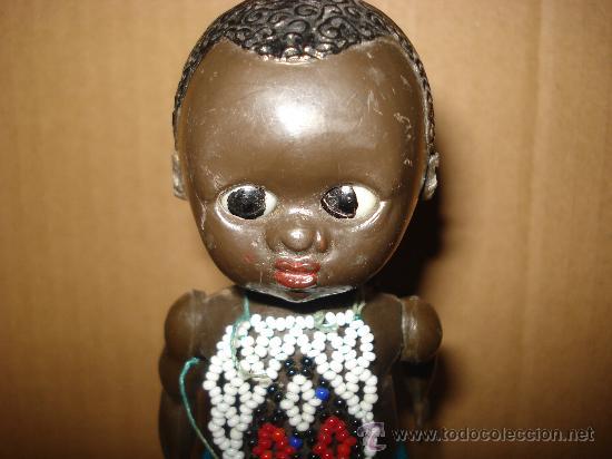 Muñecas Celuloide: Antigua Muñeca Negrita en Plastico duro 15 cm. - Foto 3 - 27602304