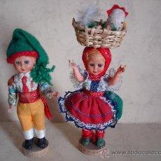Muñecas Celuloide: PAREJA DE PORTUGAL - OJOS DURMIENTES - AÑOS 50 - 15 CM. APROX.. Lote 28769104
