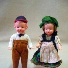 Muñecas Celuloide: PAREJA DE MUÑECAS REGIONALES, DE CELULOIDE, ALEMANIA, 1940S 14 CM. . Lote 29110974