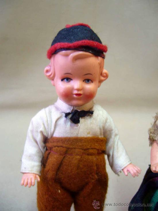 Muñecas Celuloide: PAREJA DE MUÑECAS REGIONALES, DE CELULOIDE, ALEMANIA, 1940s 14 cm. - Foto 6 - 29110974