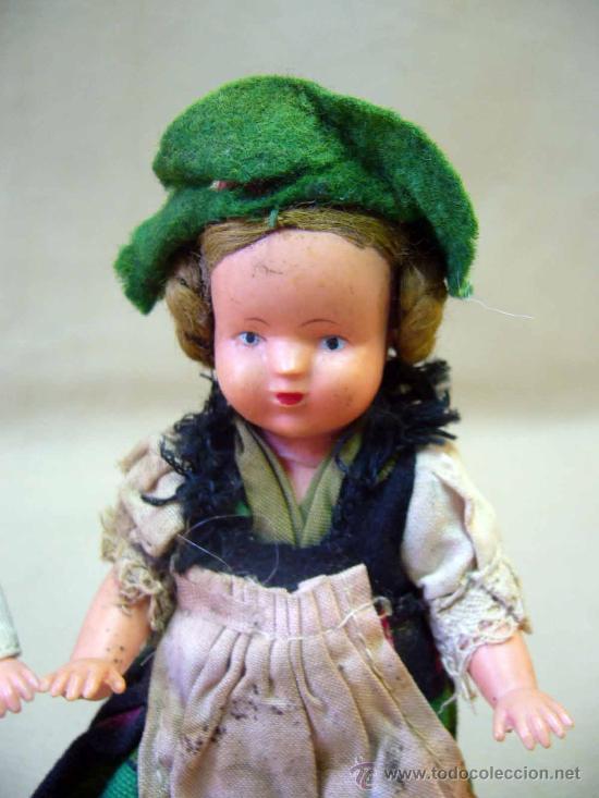 Muñecas Celuloide: PAREJA DE MUÑECAS REGIONALES, DE CELULOIDE, ALEMANIA, 1940s 14 cm. - Foto 4 - 29110974