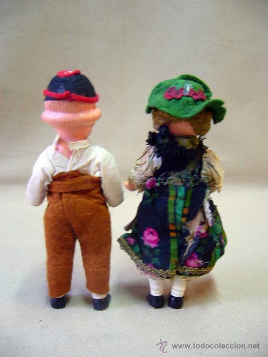 Muñecas Celuloide: PAREJA DE MUÑECAS REGIONALES, DE CELULOIDE, ALEMANIA, 1940s 14 cm. - Foto 2 - 29110974