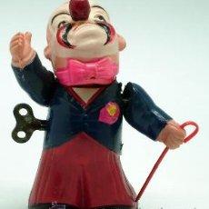 Muñecas Celuloide: PAYASO JAPONÉS CELULOIDE A CUERDA AÑOS 50 FUNCIONA. Lote 37253097