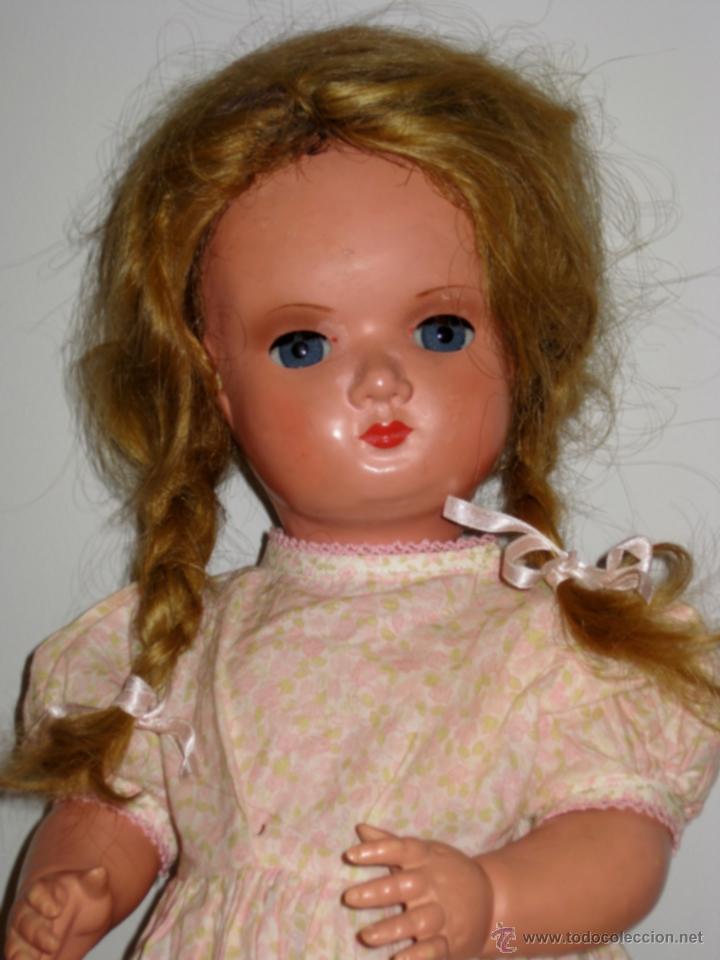 Muñecas Celuloide: Antigua muñeca de celuloide de principios de los 40. Precioso ojo durmiente de cristal conserva tod - Foto 2 - 39580021
