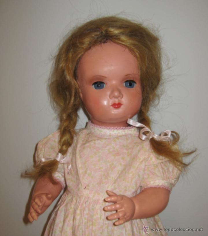 Muñecas Celuloide: Antigua muñeca de celuloide de principios de los 40. Precioso ojo durmiente de cristal conserva tod - Foto 3 - 39580021
